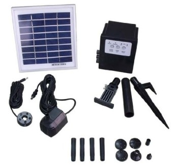 Garden Sun Light APP012B 3 Watt Solar Panel with Water Pump Battery LED