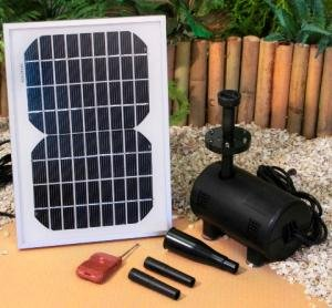 Remote Controlled Solar Water Pump Kit with LED Lights - 211gph